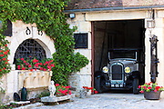 Citroen 1926 vintage car at Champagne Vigneron Bernard Launois along the Champagne Tourist Route, Champagne-Ardenne, France