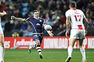 Scotland's Danny Brough (6 Huddersfield Giants) during the Ladbrokes Four Nations match between England and Scotland at the Ricoh Arena, Coventry, England on 5 November 2016. Photo by Craig Galloway.