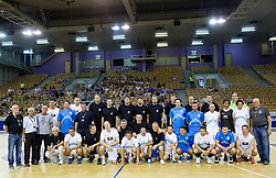 Group Photo during football and basketball charity event All Legends by Olimpiki, on June 9, 2015 in Hala Tivoli, Ljubljana, Slovenia. Photo by Vid Ponikvar / Sportida