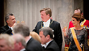 Koningin Maxima, koning Willem-Alexander met de Argentijnse president Mauricio Macri en zijn vrouw Juliana Awada tijdens het banket in het Paleis op de Dam. <br /> <br /> Queen Maxima, King Willem-Alexander of the Argentine president Mauricio Macri and his wife Juliana Awada during the banquet at the Royal Palace.<br /> <br /> Op de foto / On the photo: koning Willem-Alexander met de Argentijnse president Mauricio Macri en zijn vrouw Juliana Awada<br /> <br /> King Willem-Alexander of the Argentine president Mauricio Macri and his wife Juliana Awada