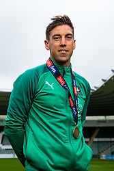(Free to use courtesy of Sky Bet) Captain Gary Sawyer Plymouth Argyle celebrate promotion to League One after the curtailment of the regular season due to the Covid-19 pandemic - Rogan/JMP - 01/07/2020 - Home Park - Plymouth, England - Sky Bet League 2.