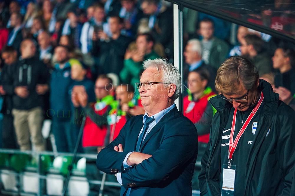 Suomen päävalmentaja Hans Backe ennen MM2018-karsintaottelun Suomi - Kosovo alkua. Veritas stadion, Turku, Suomi. 5.9.2016.
