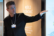 Carlo Ratti, Director, SENSEable City Laboratory, MIT - Department of Urban Studies and Planning, USA; Cultural Leader, speaking in the Strategic Intelligence Briefing: Low-Carbon Cities session at the World Economic Forum Annual Meeting 2020 in Davos-Klosters, Switzerland, 21 January. Congress Centre - Hub A Room. Copyright by World Economic Forum/ Greg Beadle