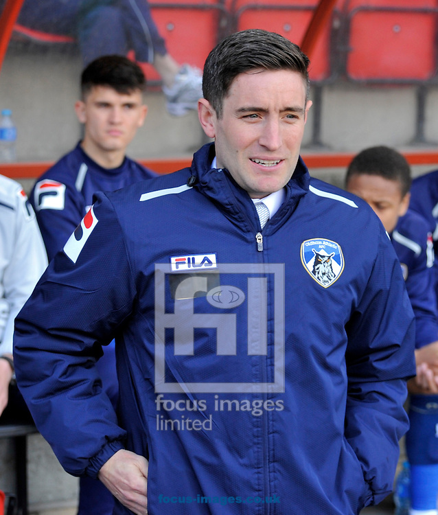 Picture by Alan Stanford/Focus Images Ltd +44 7915 056117.27/04/2013.Manager Lee Johnson  of Oldham Athletic during the npower League 1 match at the Matchroom Stadium, London.. .