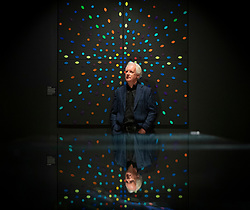Andrew Parker, artist at the Naturally Brilliant Colour exhibition Kew Gardens, Royal Botanic Garden, London, Great Britain, Press photocall, 9th May 2021<br /> <br /> EMBARGOED UNTIL 00.01 ON MONDAY 10TH MAY 2021<br /> <br /> Andrew Parker, artist, scientist, and best-selling author .<br /> <br /> Naturally Brilliant Colour<br /> A spectacular exhibition displaying Pure Structural Colour - the boldest, brightest colour on Earth, displayed for the first time. Replicating the most vivid shades found in the natural world, Naturally Brilliant Colour includes works from artists including Robert John Thornton, Julia Trickey and Coral G Guest.<br /> <br /> The exhibition runs from Monday 17 May – Sunday 26 September 2021, at the Shirley Sherwood Gallery of Botanical Art at Kew Gardens.<br /> <br /> The Royal Botanic Gardens, Kew is on a mission to encourage people, after a year spent largely indoors, to reconnect with the incredible nature that surrounds them. This summer, the leading plant institute and UNESCO World Heritage site is delighted to invite visitors on a journey to uncover the Secret World of Plants, supported by Starling Bank.<br /> <br /> Photograph by Elliott Franks