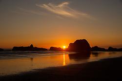 Sunset at Kalaloch Beach 4, Olympic National Park, Washington, US