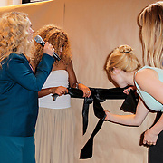 NLD/Amsterdam/20120702 - Presentatie Linda: Meiden, Soumia Abalhaya, Jildou van der Bijl, Geraldine Kemper, Sigrid ten Napel