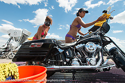 Bikini Bike Wash at the Buffalo Chip on the final Saturday of the annual Sturgis Black Hills Motorcycle Rally. SD, USA. August 13, 2016. Photography ©2016 Michael Lichter.