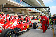 Pit stop practice at Team FERRARI - <br /> -  F1 Grand Prix in Austin, TEXAS - Formula One, Formel 1, Formule 1  - circuit of the Americas -  fee liable image - Photo Credit: © ATP / WEISS Jackie