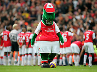 Photo: Tom Dulat/Sportsbeat Images.<br /> <br /> Arsenal v Manchester United. The FA Barclays Premiership. 03/11/2007.<br /> <br /> Arsenal's mascot.