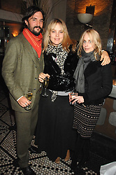 Left to right, TOM CRAIG, BAY GARNETT and ZANDY FORBES at a party to celebrate the publication of Table Talk by A  A Gill held at Luciano, 72-73 St.James's, London on 22nd October 2007.<br /><br />NON EXCLUSIVE - WORLD RIGHTS