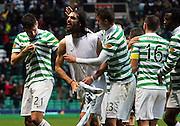 16.03.2013 Glasgow, Scotland. The Celtic players celebrate the winner    during the Clydesdale Bank Premier League match between, Celtic and Aberdeen, from Celtic Park Stadium.