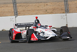 September 14, 2018 - Sonoma, CA, U.S. - SONOMA, CA - SEPTEMBER 14: Marco Andretti pilots his car into Turn 9A during the Verizon IndyCar Series practice for the Grand Prix of Sonoma on September 14, 2018, at Sonoma Raceway in Sonoma, CA. (Photo by Larry Placido/Icon Sportswire) (Credit Image: © Larry Placido/Icon SMI via ZUMA Press)