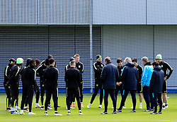 Manchester City Manager, Manuel Pellegrini talks with his players - Mandatory byline: Matt McNulty/JMP - 25/04/2016 - FOOTBALL - City Football Academy - Manchester, England - Manchester City v Real Madrid - UEFA Champions League Training Session