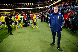 November 20, 2018 - Stockholm, Sweden - 181120 Head coach Janne Andersson of Sweden prior to the Nations League football match between Sweden and Russia on November 20, 2018 in Stockholm..Photo: Petter Arvidson / BILDBYRÃ…N / kod PA / 87811 (Credit Image: © Petter Arvidson/Bildbyran via ZUMA Press)