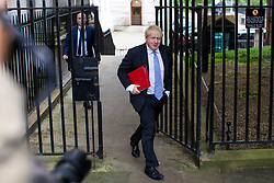 © Licensed to London News Pictures. 05/06/2018. London, UK. Foreign Secretary Boris Johnson arrives on Downing Street for the Cabinet meeting. Photo credit: Rob Pinney/LNP