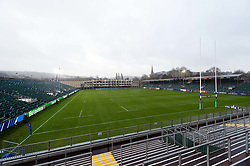 A general view of the Recreation Ground pitch - Mandatory byline: Patrick Khachfe/JMP - 07966 386802 - 08/12/2018 - RUGBY UNION - The Recreation Ground - Bath, England - Bath Rugby v Leinster Rugby - Heineken Champions Cup