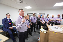 Matt shadowing Edinburgh Airport's chief exec Gordon Dewar as he runs Scotland's busiest airport. Airport security chief Pat Welldone.