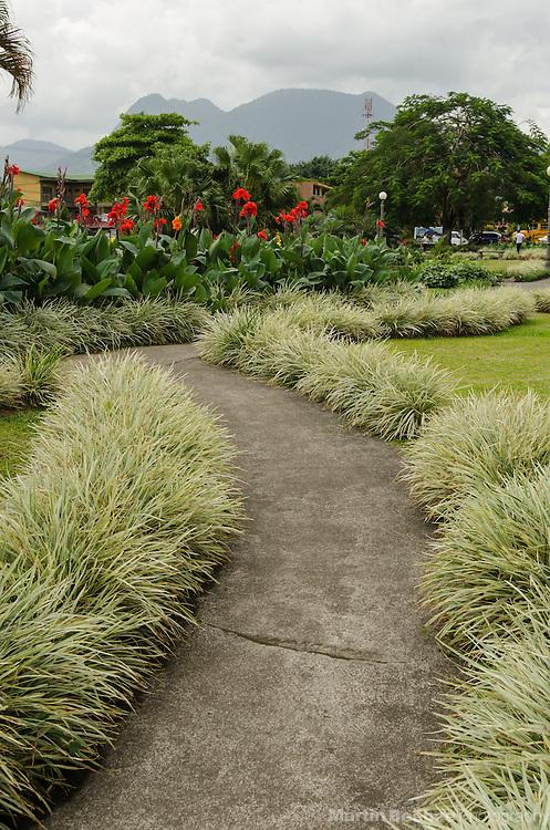 Parque Central plaza, La Fortuna, Costa Rica