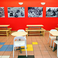 010713  Adron Gardner/Independent<br /> <br /> Classic Diné photography decorates the walls of Café Da'a'so at the Navajo Nation Museum in Window Rock Tuesday.