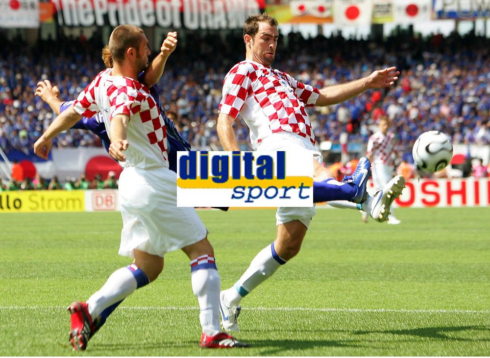 Robert Kovac, Naohiro Takahara Japan, Igor Tudor<br /> Fussball WM 2006 Japan - Kroatien<br /> Japan - Kroatia<br /> Norway only