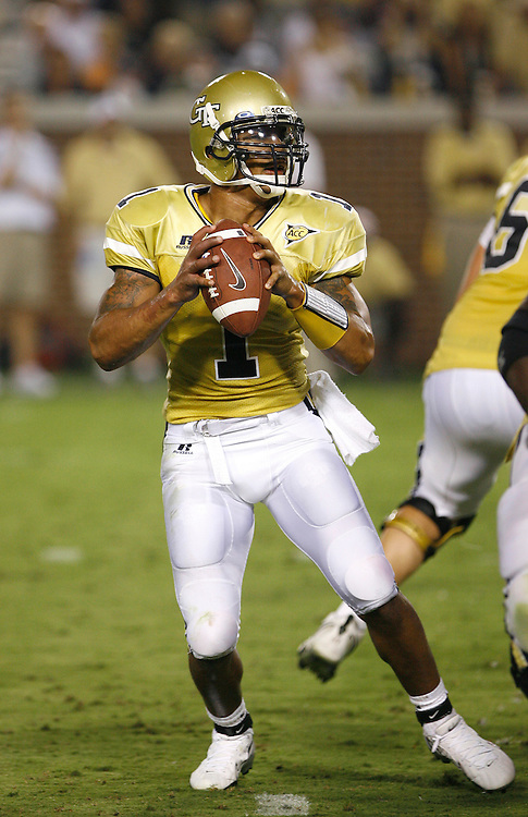 Georgia Tech QB Reggie Ball threw for 140 yards and a TD during the game against Notre Dame at Grant Field in Bobby Dodd Stadium in Atlanta, GA on September 2, 2006.  The Fighting Irish beat the Yellow Jackets 14-10.