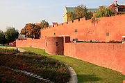Warsaw Poland fortified city wall