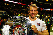 Picture by Andrew Tobin/SLIK images +44 7710 761829. 2nd December 2012. Chris Robshaw holds the Hilary Shield after the QBE Internationals match between England and the New Zealand All Blacks at Twickenham Stadium, London, England. England won the game 38-21.