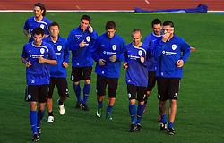 Branko Ilic (18),  Marko Suler (4), Zlatko Dedic (14), Ales Mejac, Valter Birsa (10), Miso Brecko (2), Andraz Kirm (17) and Anton Zlogar (16) at practice of Slovenian men National team, on October 13, 2008, in Domzale, Slovenia.  (Photo by Vid Ponikvar / Sportal Images)