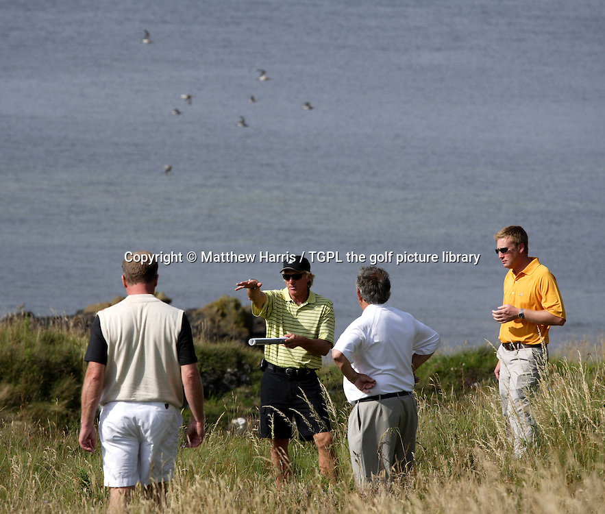 Greg NORMAN (AUS) during visit to Turnberry,s Ailsa links to look at possible updates to the course for new owners Leisurecorp, Turnberry,, Ayrshire, Scotland  24th July 2008.