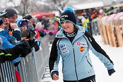 Manja Pograjc during Normal Hill Individual Competition at FIS World Cup Ski jumping Ladies Ljubno 2012, on February 11, 2012 in Ljubno ob Savinji, Slovenia. (Photo By Vid Ponikvar / Sportida.com)