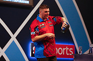 Daryl Gurney after giving away all his darts after the Darts World Championship 2018 at Alexandra Palace, London, United Kingdom on 18 December 2018.