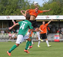 Jeppe Christiansen (FC Helsingør) under kampen i 2. Division Øst mellem Boldklubben Avarta og FC Helsingør den 19. august 2012 i Espelunden. (Foto: Claus Birch).