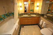 The launch of Royal Caribbean International's Oasis of the Seas, the worlds largest cruise ship..Staterooms.Grand Suite with balcony, bathroom