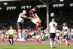 May 12, 2019 - Fulham, England, United Kingdom - Fabian Schar of Newcastle United scores his sides third goal during the Premier League match between Fulham and Newcastle United at Craven Cottage, London on Sunday 12th May 2019. (Credit Image: © Mi News/NurPhoto via ZUMA Press)