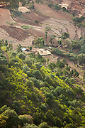 Agricultural lands in the Gheralta Mountains, Tigray region. Ethiopia, Horn of Africa