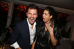 Juan Arbelaez and his wife Laury Thilleman attending Orange Party held at Plage Majestic as part of the 72nd Cannes Film Festival, on May 18, 2019 in Cannes, France. Photo by Jerome Domine/ABACAPRESS.COM
