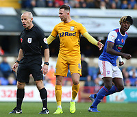 Preston North End's Alan Browne argues with Referee Andy Woolmer<br /> <br /> Photographer David Shipman/CameraSport<br /> <br /> The EFL Sky Bet Championship - Ipswich Town v Preston North End - Saturday 3rd November 2018 - Portman Road - Ipswich<br /> <br /> World Copyright © 2018 CameraSport. All rights reserved. 43 Linden Ave. Countesthorpe. Leicester. England. LE8 5PG - Tel: +44 (0) 116 277 4147 - admin@camerasport.com - www.camerasport.com