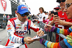 March 10, 2018 - St. Petersburg, Florida, United States of America - March 10, 2018 - St. Petersburg, Florida, USA: Tony Kanaan (14) signs a few autographs for fans after final practice for the Firestone Grand Prix of St. Petersburg at Streets of St. Petersburg in St. Petersburg, Florida. (Credit Image: © Justin R. Noe Asp Inc/ASP via ZUMA Wire)