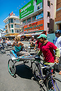 Rickshaw ride, Chau Doc, Vietnam, Asia