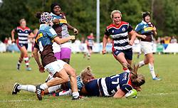 Sarah Bern of Bristol Ladies scores a try - Mandatory by-line: Robbie Stephenson/JMP - 18/09/2016 - RUGBY - Cleve RFC - Bristol, England - Bristol Ladies Rugby v Aylesford Bulls Ladies - RFU Women's Premiership