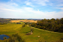 October 2009:  A view of the country side from highway 20 south of Galena. Sights to see in and around Galena Illinois in Jo Davies county. This image was produced in part utilizing High Dynamic Range (HDR) or panoramic stitching or other computer software manipulation processes. It should not be used editorially without being listed as an illustration or with a disclaimer. It may or may not be an accurate representation of the scene as originally photographed and the finished image is the creation of the photographer.