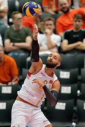 14-09-2019 NED: EC Volleyball 2019 Estonia - Montenegro, Rotterdam<br /> First round group D - Montenegro win 3-0 / Vojin Cacic #6 of Montenegro