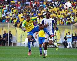 Yannick Zakri of Mamelodi Sundowns takes a shot on goal during the 1st leg of the MTN8 Semi Final between Chippa United and Mamelodi Sundowns held at the Nelson Mandela Bay Stadium in Port Elizabeth, South Africa on the 11th September 2016<br /><br />Photo by: Richard Huggard / Real Time Images