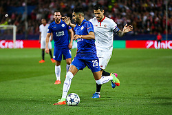 Riyad Mahrez of Leicester City - Rogan Thomson/JMP - 22/02/2017 - FOOTBALL - Estadio Ramon Sanchez Pizjuan - Seville, Spain - Sevilla FC v Leicester City - UEFA Champions League Round of 16, 1st Leg.