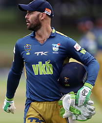 Rudi Second (wk) of the VKB Knights during the T20 Challenge cricket match between the Hollywoodbets Dolphins and VKB Knights  at the Kingsmead stadium in Durban, KwaZulu Natal, South Africa on the 11 Dec 2016<br /> <br /> Photo by:   Steve Haag / Real Time Images