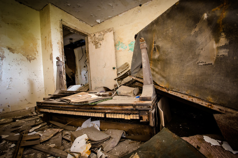 April 11, 2013, Interior of a blighted home in New Orleans almost eight years after Hurricane Katrina in the Lower 9th Ward.