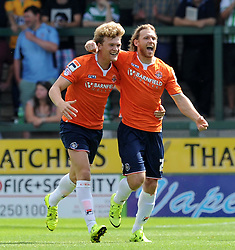 Craig Mackail-Smith of Luton Town celebrates his sides goal - Photo mandatory by-line: Harry Trump/JMP - Mobile: 07966 386802 - 22/08/15 - SPORT - FOOTBALL - Sky Bet League Two - Yeovil Town v Luton Town - Huish Park, Yeovil, England.