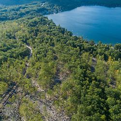 43.47312, -71.16884. Birch Ridge location F. 400 feet above ground - facing northwest. New Durham, New Hampshire. Merrymeeting Lake.