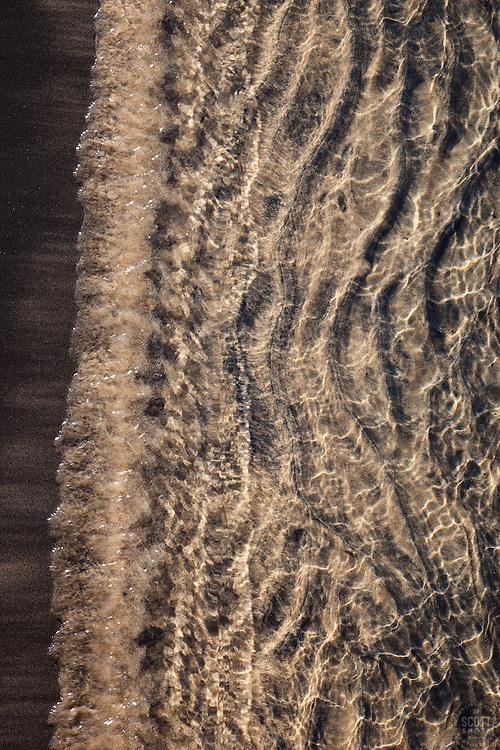 """Lake Tahoe Sand 2"" - This sandy shoreline was photographed at Kings Beach, Lake Tahoe."